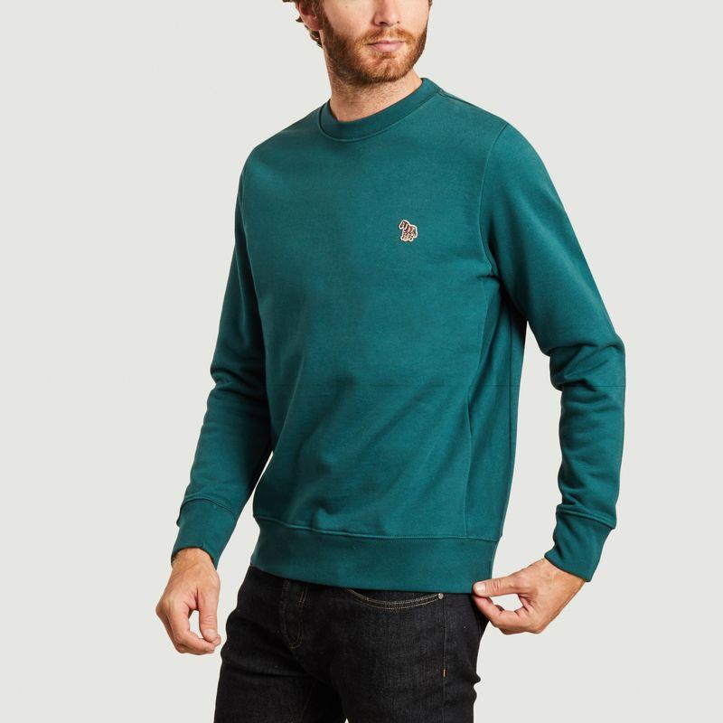 Sweatshirt en coton bio brodé zèbre - PS by PAUL SMITH