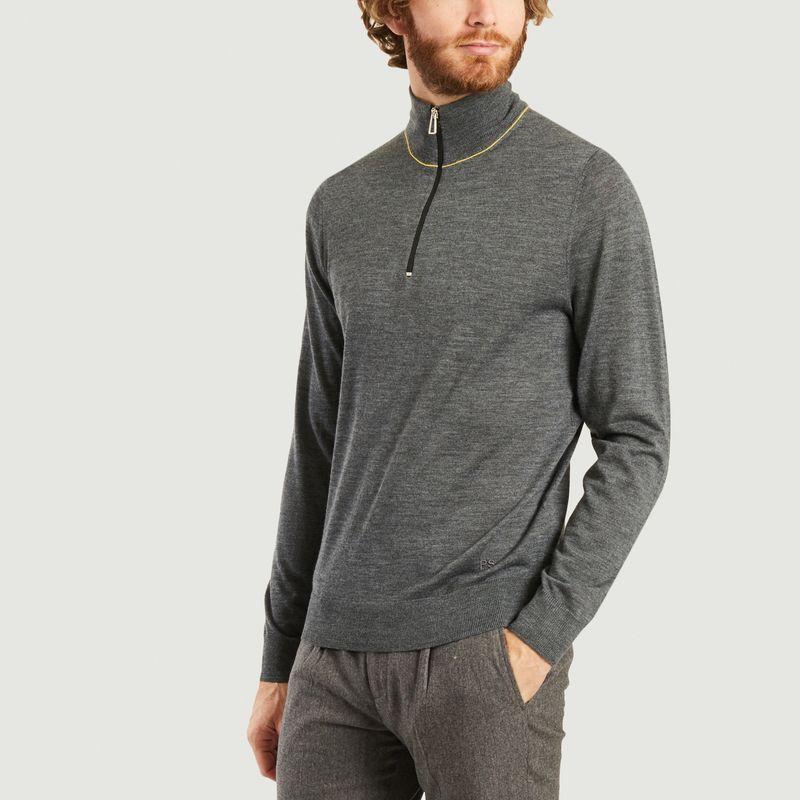 Pull en laine mérinos col zippé - PS by PAUL SMITH