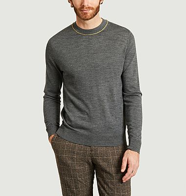 Merino wool fitted sweater