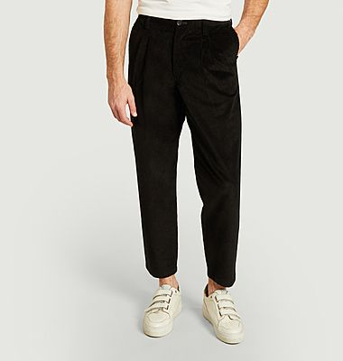 7/8 chino velvet pants with pockets