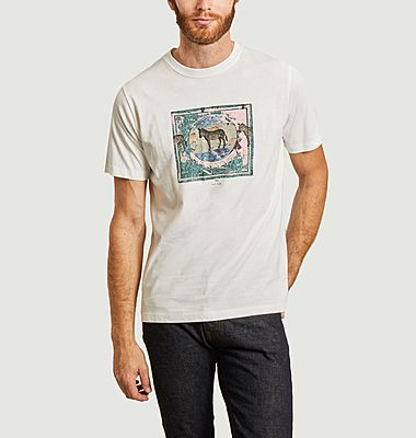 T-shirt zebra graphique
