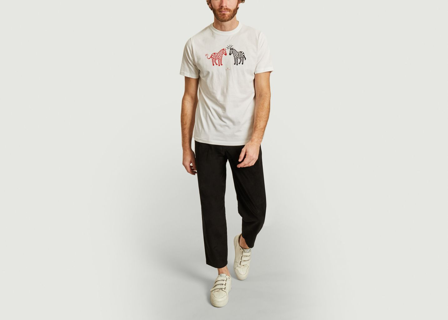 T-shirt en coton bio imprimé Halo Devil Zebras - PS by PAUL SMITH