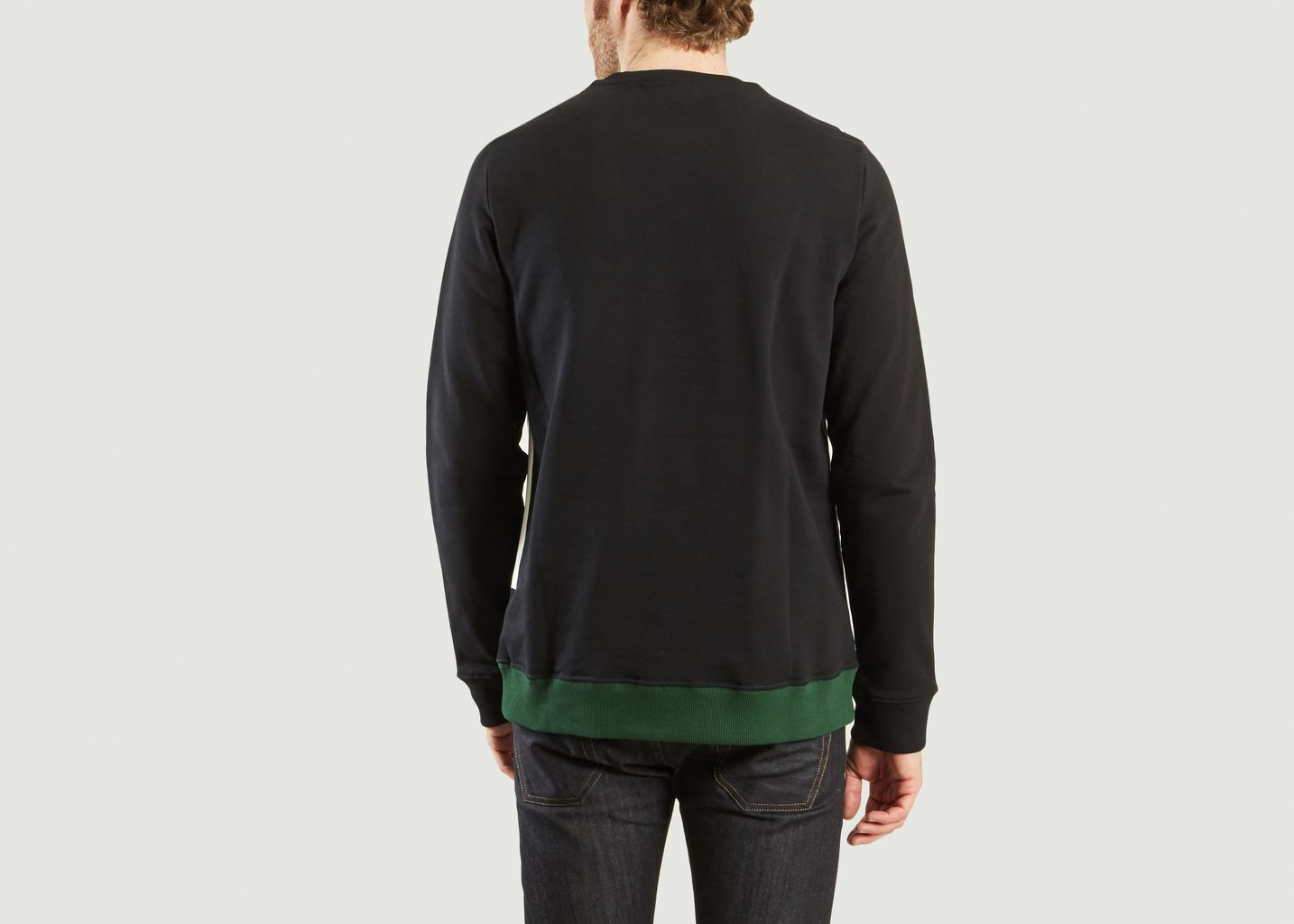 sweat a bande vert bouteille fred perry x raf simons l 39 exception. Black Bedroom Furniture Sets. Home Design Ideas