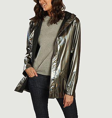 Holographic hooded windbreaker jacket