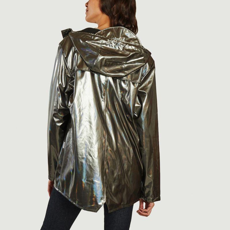 Veste coupe-vent holographique à capuche - Rains