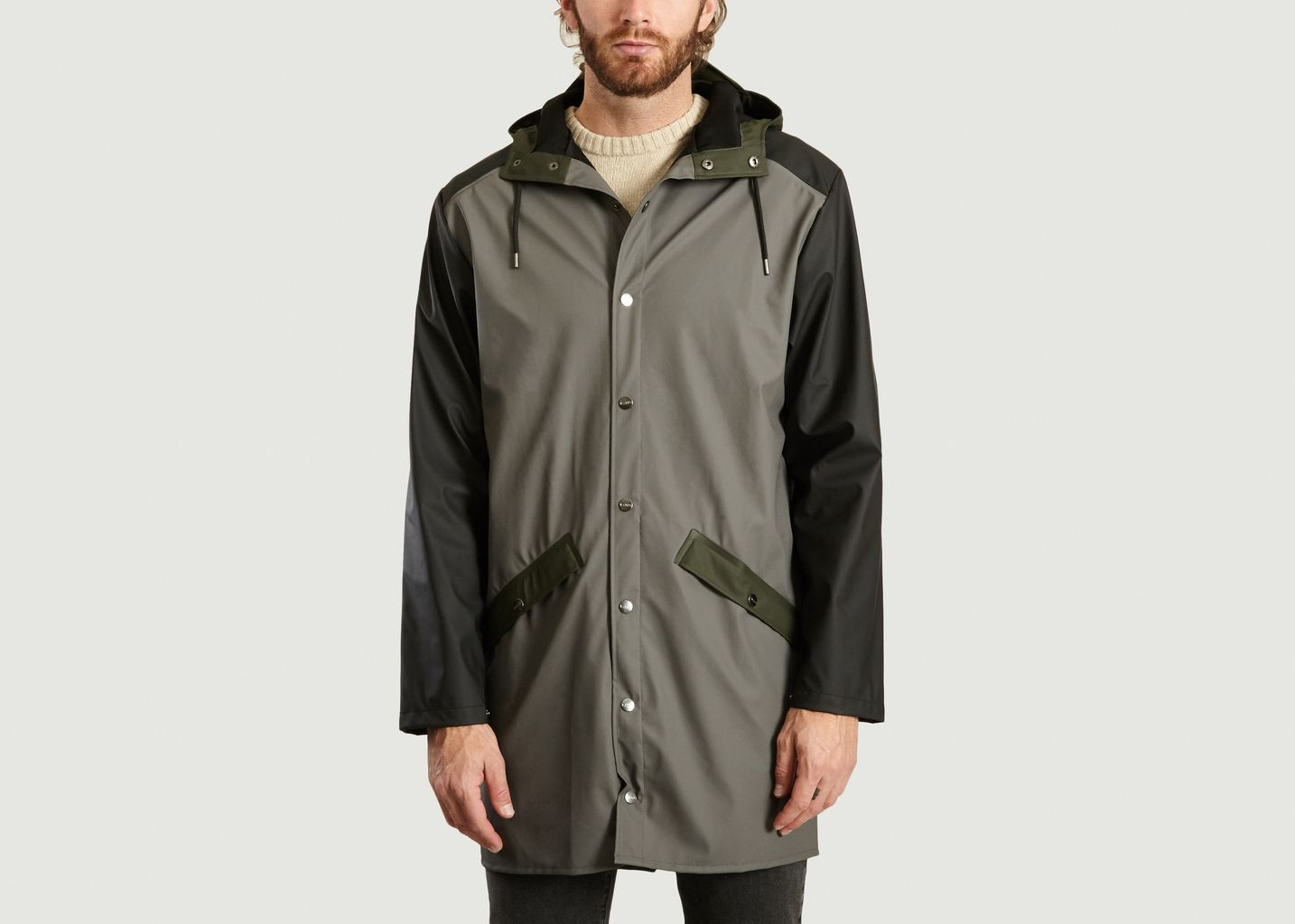 Veste Longue Color Block - Rains