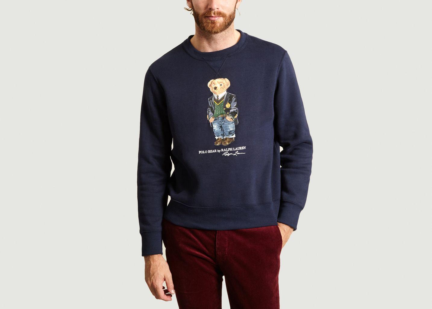 Flocked Bear Sweatshirt