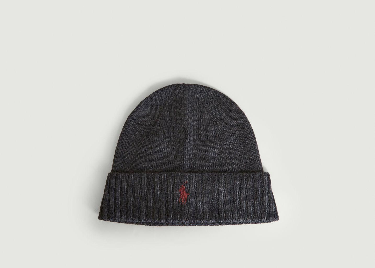 Bonnet brodé en laine - Polo Ralph Lauren