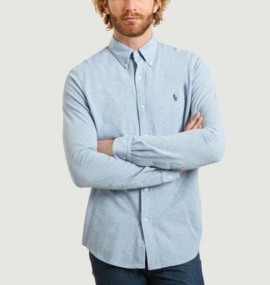 Chemise Siglée En Piqué De Coton