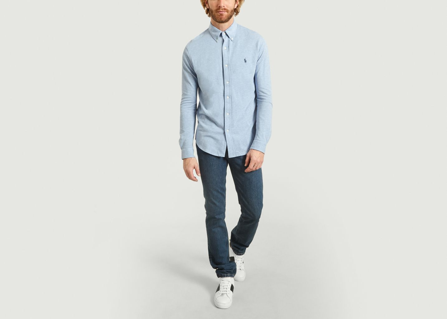 Chemise Siglée En Piqué De Coton - Polo Ralph Lauren
