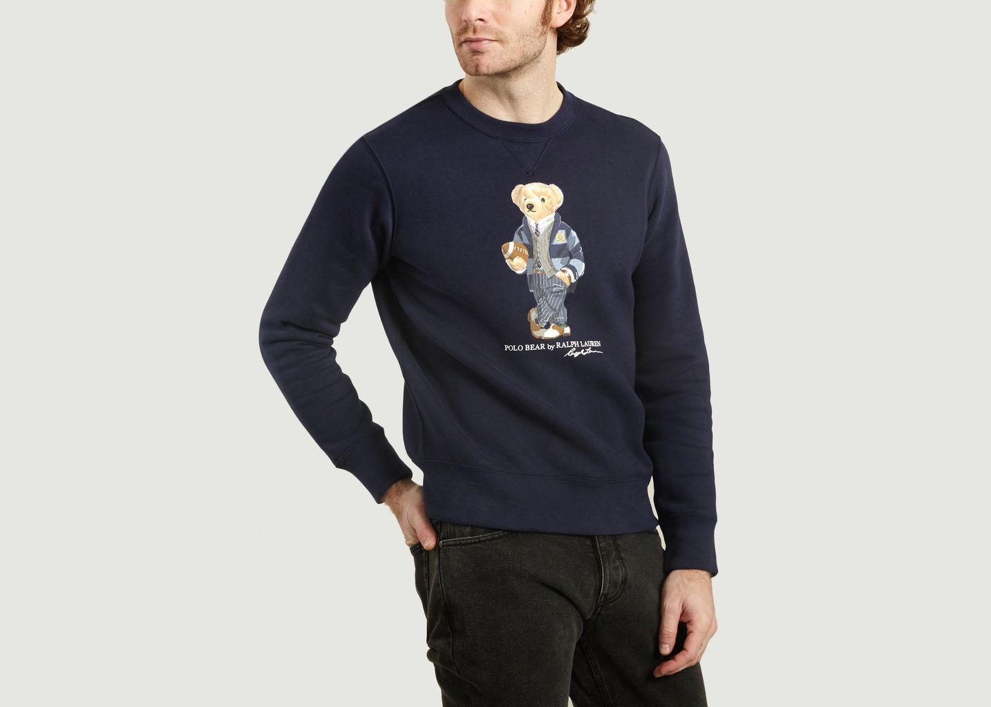 pull ralph lauren homme bleu marine