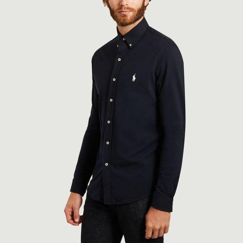 chemise ultra légère en coton piqué bleu marine - Polo Ralph Lauren