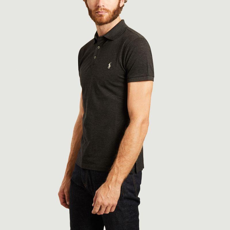 Polo Cintré manches courtes en coton piqué  - Polo Ralph Lauren