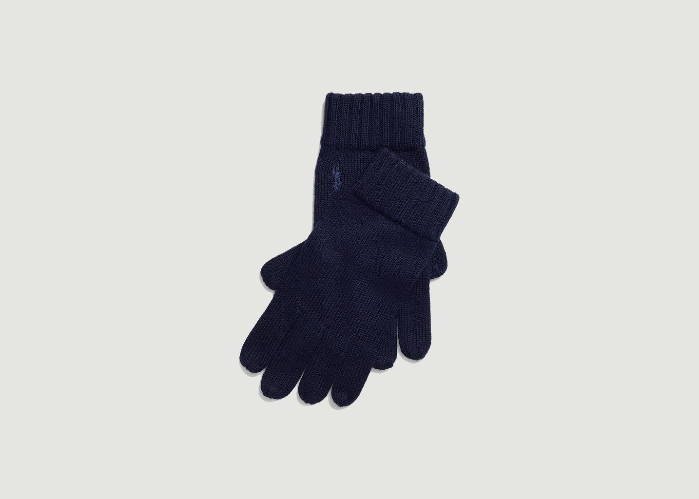 Gants siglés en laine mérinos - Polo Ralph Lauren