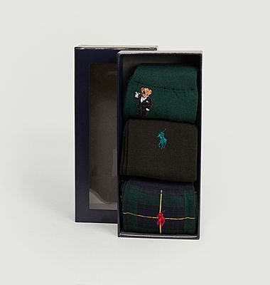 Pack de 3 paires de chaussettes siglées