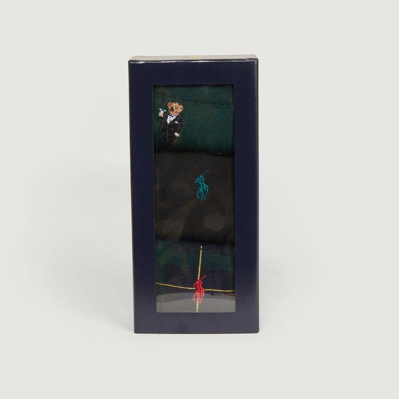 Pack de 3 paires de chaussettes siglées - Polo Ralph Lauren