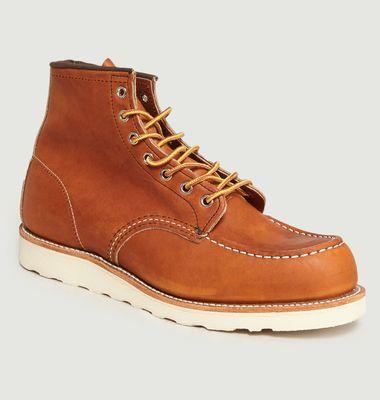Boots En Cuir A Lacets 875
