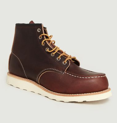 Boots En Cuir A Lacets 8138