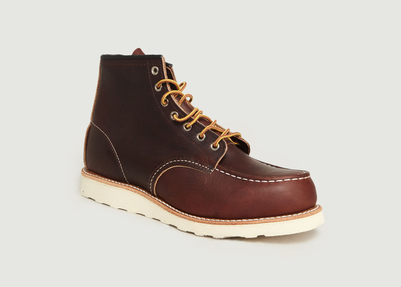 293f2c3924d907 Boots En Cuir A Lacets 8138 Marron Red Wing Shoes   L'Exception