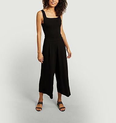 Jersey sleeveless jumpsuit