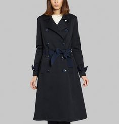 Cinched Trench Coat