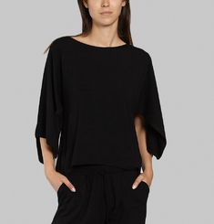 Long top in soft viscose