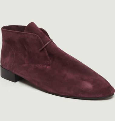 Bottines En Veau Velours Ivanoe