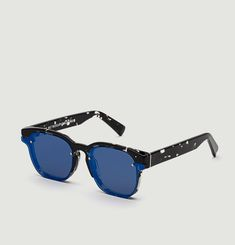 Euclid Blue Mirror Sunglasses