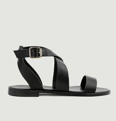 N°202 flat leather sandals