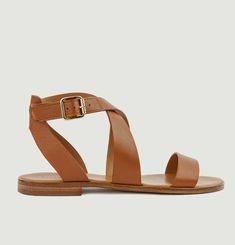 Sandales plates en cuir N°202