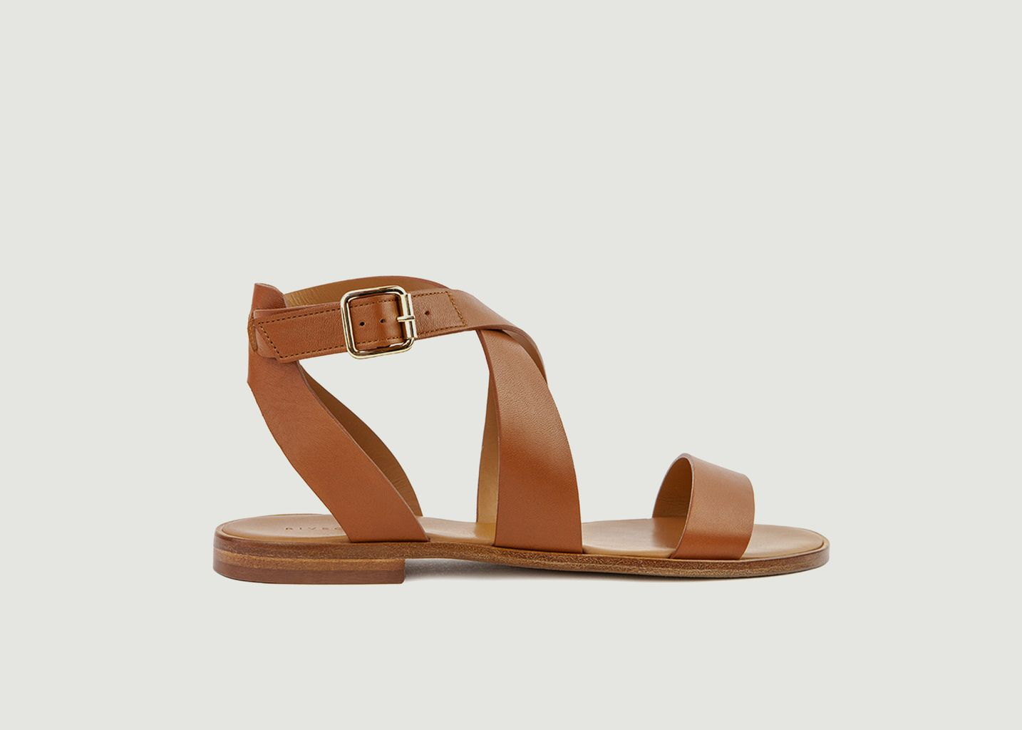 Sandales plates en cuir N°202 - Rivecour