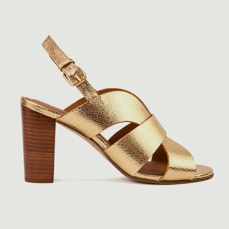 Sandales en cuir métallisé N°55 - Rivecour