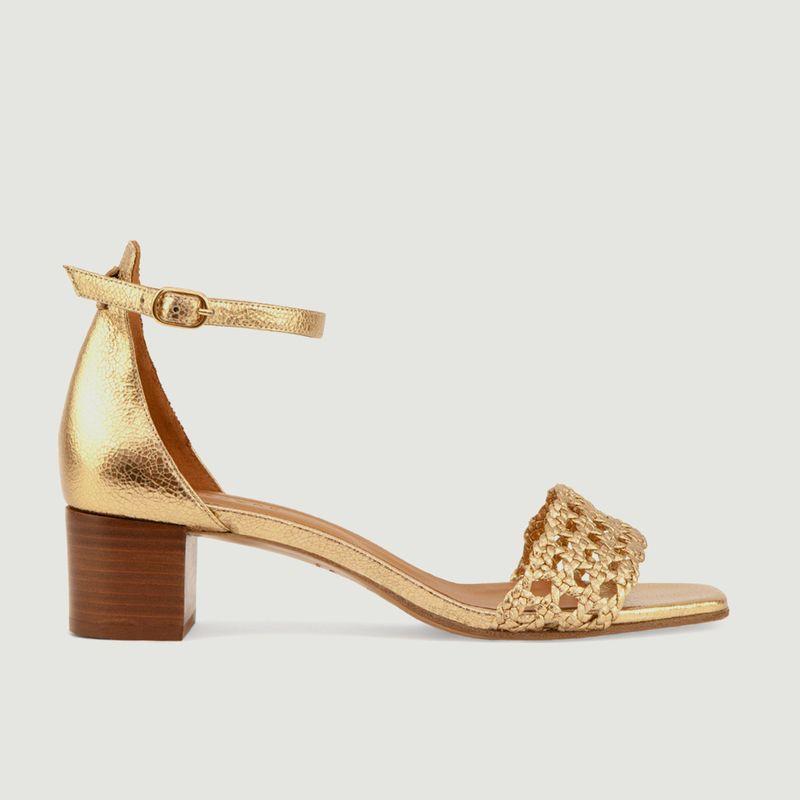 Sandales en cuir métallisé N°890 - Rivecour