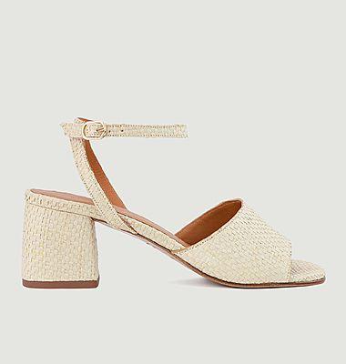 Sandales en raphia N°889