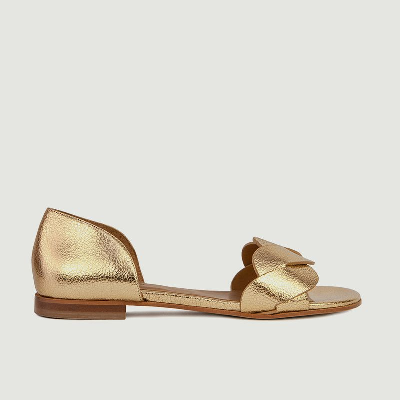 Sandales plates en cuir métallisé N°36 - Rivecour