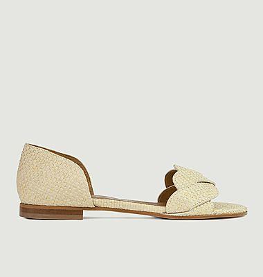 Sandales plates en raphia N°36