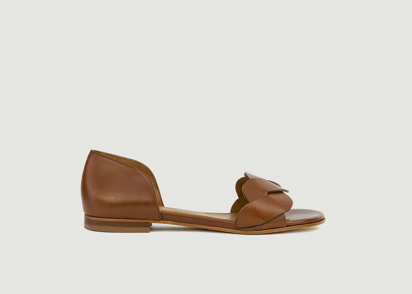 Sandales plates en cuir N°36 - Rivecour