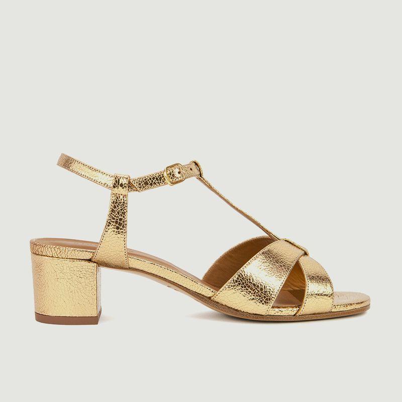 Sandales en cuir métallisé N°452 - Rivecour
