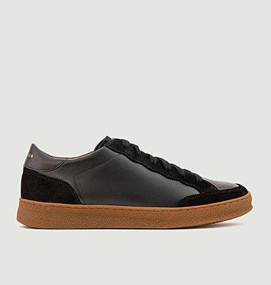 Sneakers basses en cuir bi-matière N°14