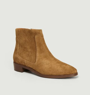 Bottines En Veau Velours N°67