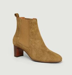 Bottines En Chèvre Velours N°292