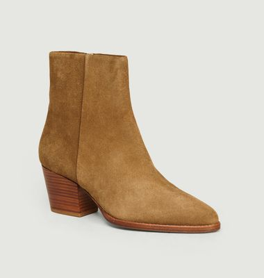 Bottines En Veau Velours N°700