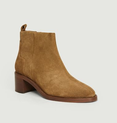 Bottines En Veau Velours N°286