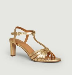 N°22 cracked leather sandals