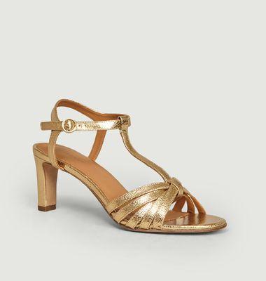 Sandales en cuir craquelé n°22