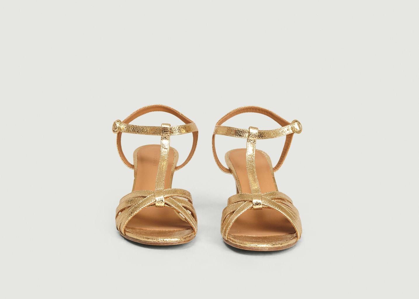 Sandales en cuir craquelé n°22 - Rivecour