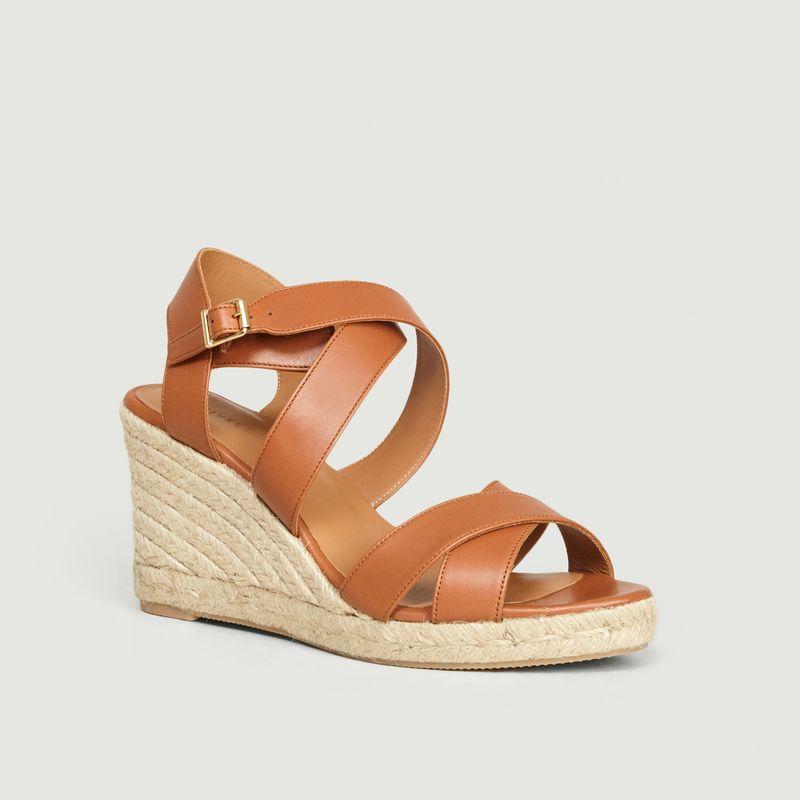 Sandales compensées en cuir n°192 - Rivecour