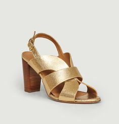 N°55 cracked leather sandals