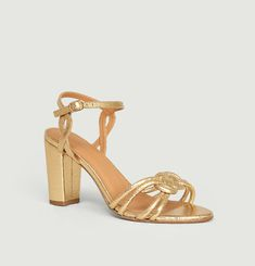 N°111 cracked leather sandals