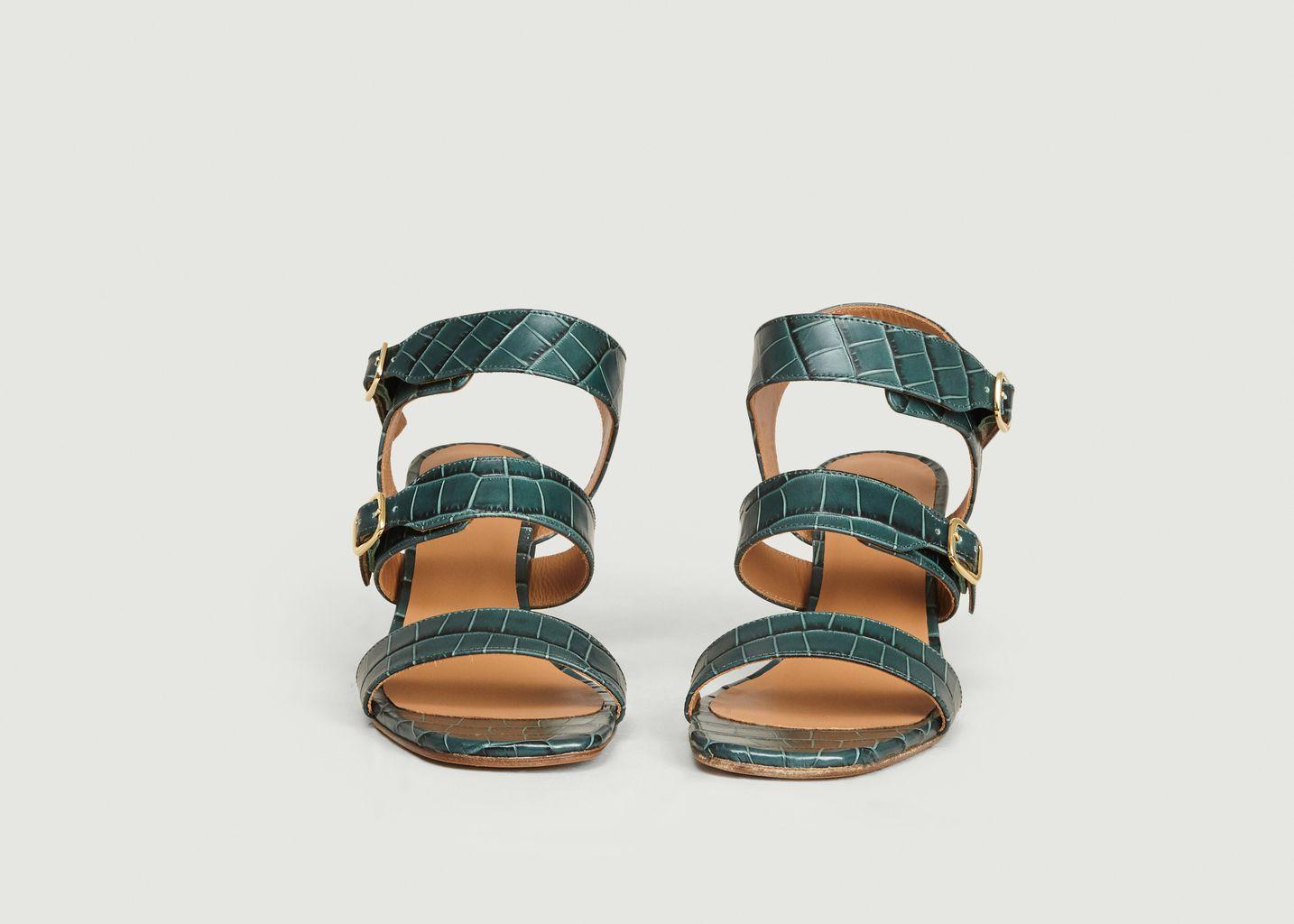 Sandales en cuir effet croco n°45 - Rivecour